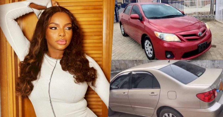 BBNaija star, Wathoni surprises her parents with one car each (Photos)