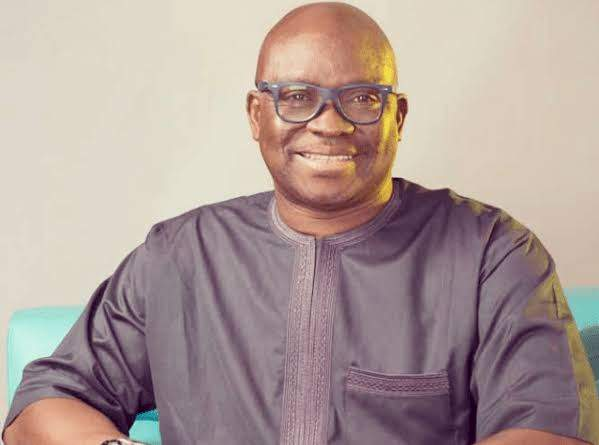 You have white teeth and flat tommy, my son have no excuse to cheat - Ex-Ekiti Governor, Fayose tells son's wife at their wedding (Video)