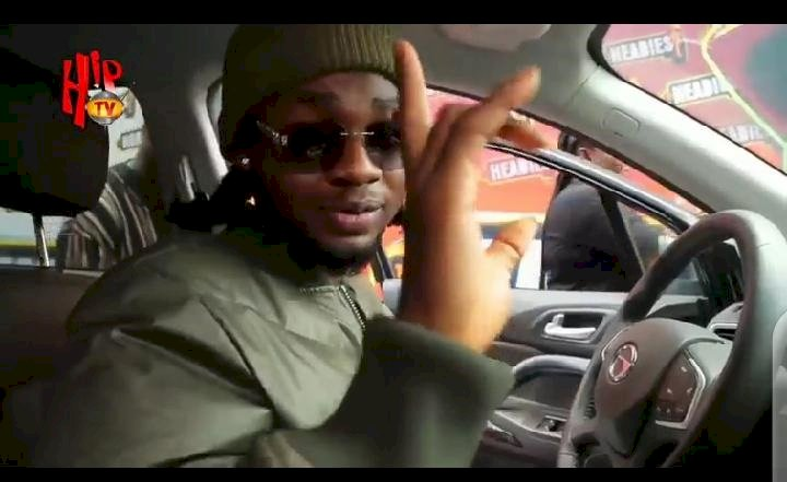 Omah Lay officially receives his Headies 'next rated' award car gift (Video)