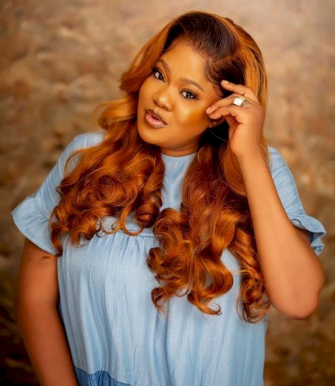 Mercy Johnson reacts as actress Toyin Abraham openly speaks on her husband, Prince Odi Okojie and their marriage