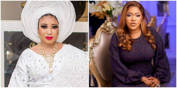 """""""Nobody should fight for me"""" - Toyin Abraham slam fans hurling insults at Lizzy Anjorin"""