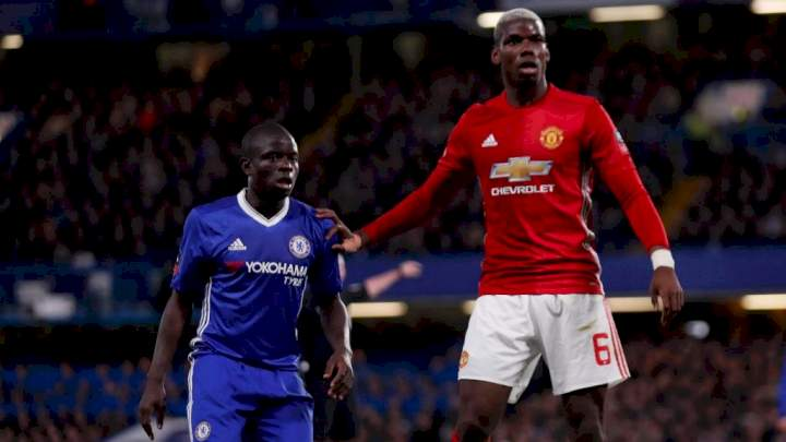 FA Cup: Chelsea's Kante cheats a lot - Man Utd star, Pogba