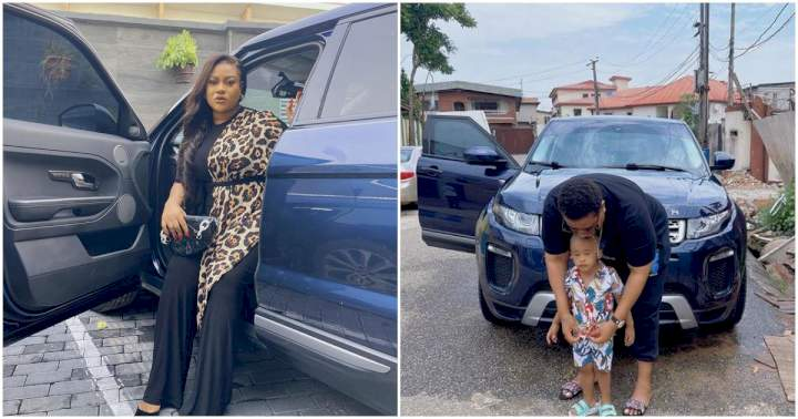 Nkechi Blessing flaunts her new Range Rover amidst suspension from the Nollywood industry