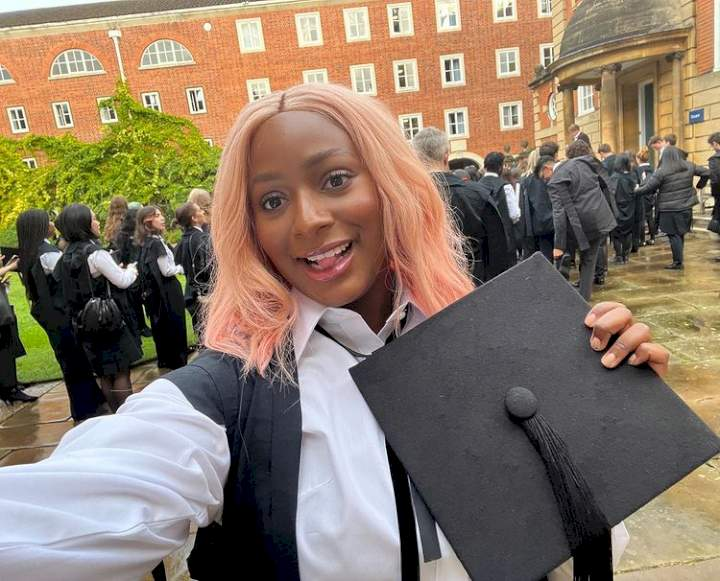 """""""My hard work paid off"""" - DJ Cuppy celebrates matriculation at Oxford University in UK"""