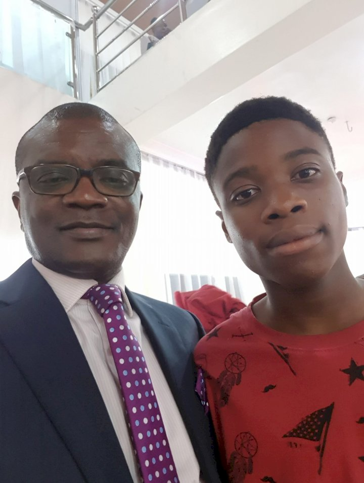 Boy gets cash reward of N340k for returning a missing phone he found at an event