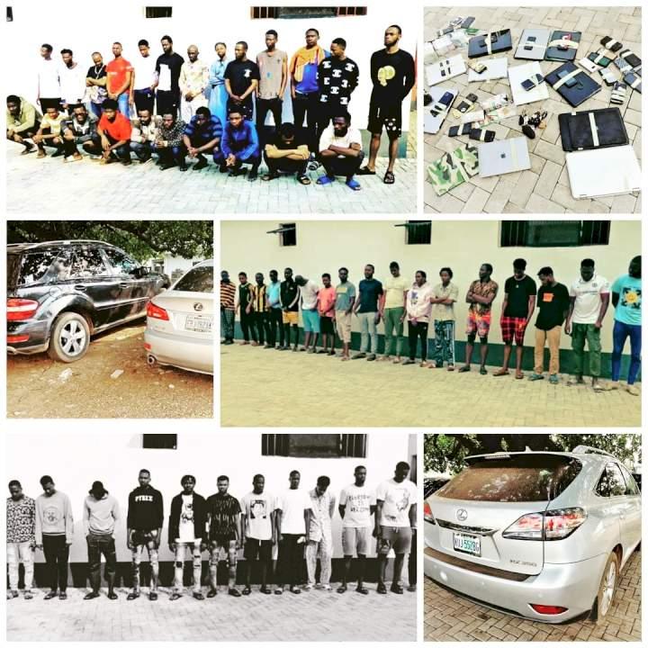 EFCC arrests 55 suspected Internet fraudsters in Enugu
