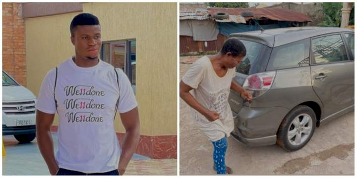 Months after buying himself a car and a house, Comedian Zicsaloma gifts his mom a car (Video)