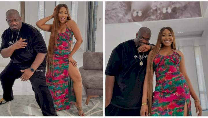 """""""I really need to learn how to pose"""" - Don Jazzy says as he strikes a pose with Erica (Photo)"""