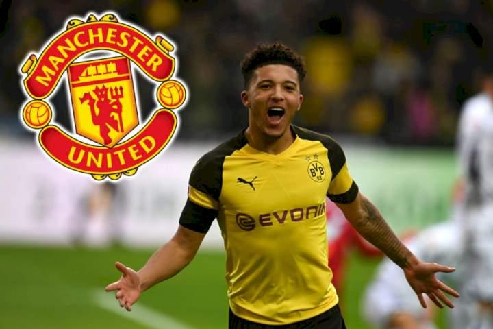 Man United close to signing Dortmund's Sancho - Jones