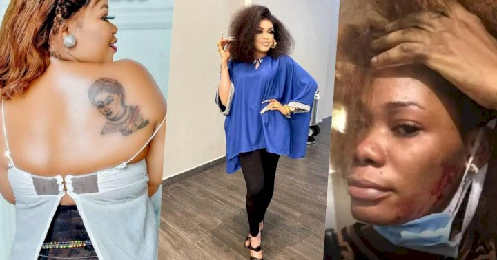 Gift Anumba, another woman with Bobrisky's tattoo backs Ivorian lady's claim, threatens to expose Bob