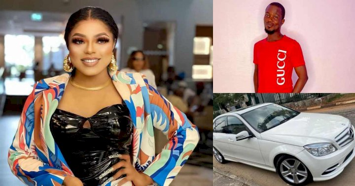 """Lori iro this your fake life too much"" - Reactions as Bobrisky gifts fan a new Benz amid assault saga"
