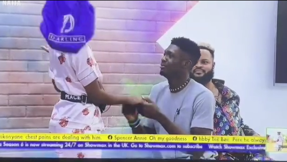 BBNaija: Sammie proposes to Peace, gets a loud 'Yes' (Video)