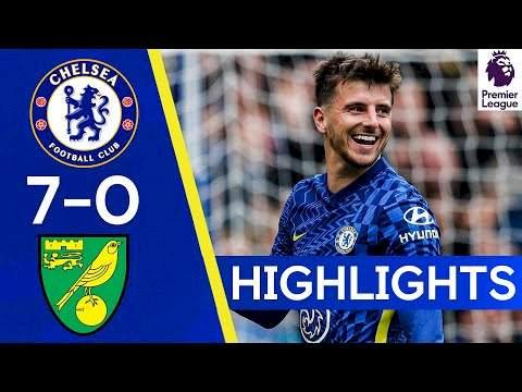 Chelsea 7 - 0 Norwich (Oct-23-2021) Premier League Highlights