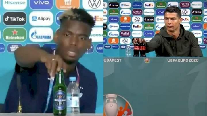 Euro 2020: UEFA states position on Ronaldo, Pogba, others removing Coca-Cola, Heineken bottles
