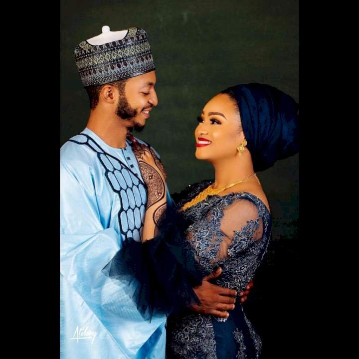 """""""Who says social media relationship is a lie?"""" - Jigawa governor's son, Abdulrahman and fiancée Affiya wed after meeting on Snapchat"""