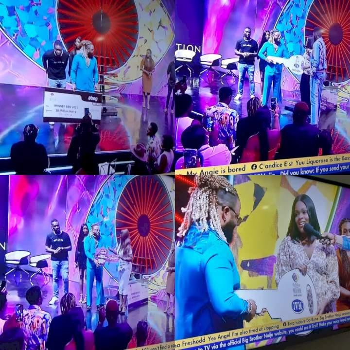 BBNaija: Whitemoney receives N30m cash prize, car, house (Photos)