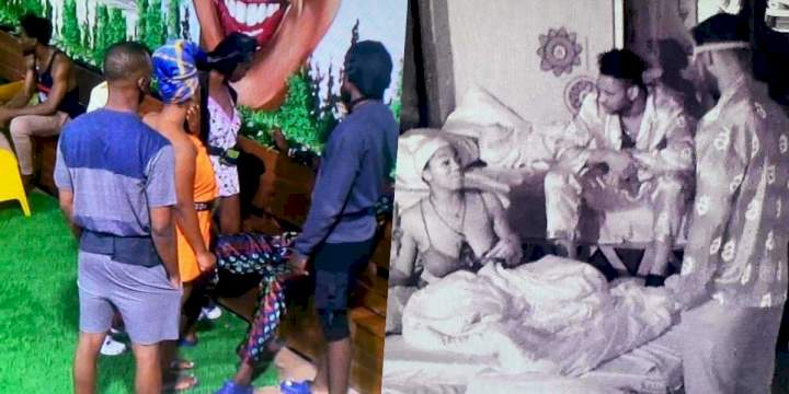 BBNaija: Angel and Sammie fight dirty in the house (Video)
