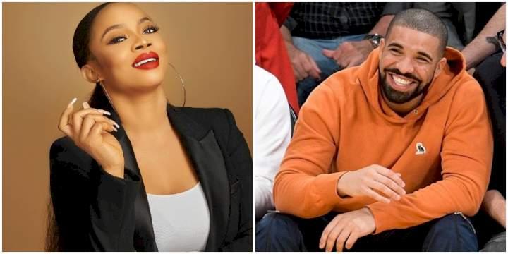 """""""I've been faithful, don't ASAP Rocky me"""" - Toke Makinwa warns her crush, Drake"""