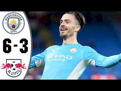 Manchester City 6 - 3 RB Leipzig (Sep-15-2021) UEFA Champions League Highlights